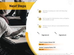 Next Steps Business Communication Ppt Powerpoint Presentation Gallery Graphics Template