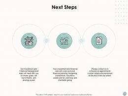 Next Steps Business Finance Ppt Powerpoint Presentation Model Slide Download