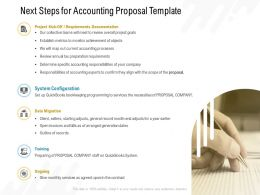 Next Steps For Accounting Proposal Template Ppt Powerpoint Presentation Slides Design Ideas