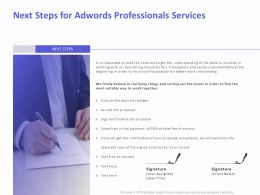 Next Steps For AdWords Professionals Services Ppt Clipart