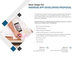 Next Steps For Android App Developers Proposal Ppt Powerpoint Styles