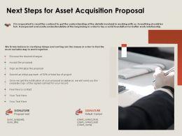 Next Steps For Asset Acquisition Proposal Ppt Powerpoint Presentation File Elements