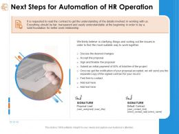 Next Steps For Automation Of Hr Operation Initial Payment Ppt Powerpoint Presentation Templates