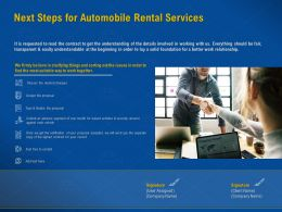 Next Steps For Automobile Rental Services Leased Vehicles Ppt Powerpoint Presentation Tips