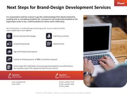 Next Steps For Brand Design Development Services Ppt Powerpoint Example