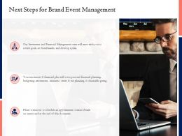 Next Steps For Brand Event Management Ppt Powerpoint Presentation Outline