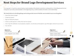 Next Steps For Brand Logo Development Services Ppt Powerpoint Presentation Example