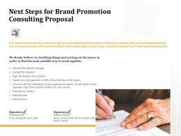 Next Steps For Brand Promotion Consulting Proposal Ppt Powerpoint Presentation Icon