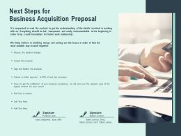 Next Steps For Business Acquisition Proposal Desired Ppt Presentation Slides
