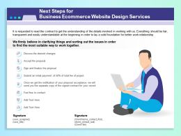 Next Steps For Business Ecommerce Website Design Services Ppt Template