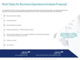 Next Steps For Business Operations Analysis Proposal Ppt Powerpoint Presentation Deck