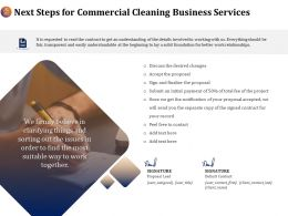 Next Steps For Commercial Cleaning Business Services Ppt File Example Introduction