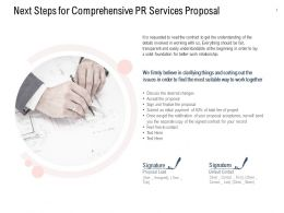 Next Steps For Comprehensive PR Services Proposal Ppt Powerpoint Pictures