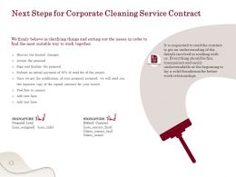 Next Steps For Corporate Cleaning Service Contract Ppt Powerpoint Presentation Sample
