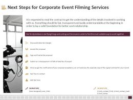 Next Steps For Corporate Event Filming Services Ppt Gallery