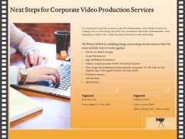 Next Steps For Corporate Video Production Services Ppt Ideas