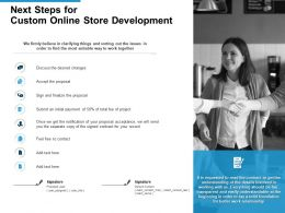 Next Steps For Custom Online Store Development Ppt Powerpoint Presentation