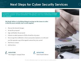 Next Steps For Cyber Security Services Ppt Powerpoint Presentation Summary