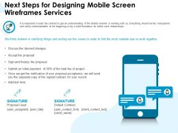Next Steps For Designing Mobile Screen Wireframes Services Ppt Powerpoint Graphics