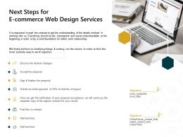 Next Steps For E Commerce Web Design Services Finalize Ppt Powerpoint Presentation Template