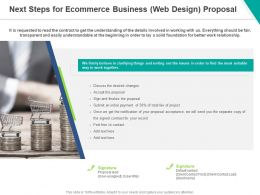 Next Steps For Ecommerce Business Web Design Proposal Ppt Powerpoint Presentation Pictures Guidelines