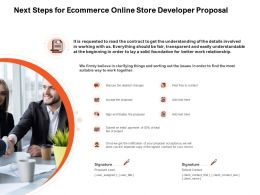 Next Steps For Ecommerce Online Store Developer Proposal Ppt Powerpoint Presentation Ideas Infographics