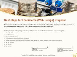 Next Steps For Ecommerce Web Design Proposal Ppt Powerpoint Presentation File