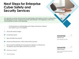 Next Steps For Enterprise Cyber Safety And Security Services Ppt File Slides