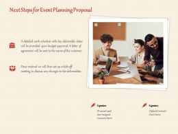 Next Steps For Event Planning Proposal Ppt Powerpoint Presentation Styles Slide