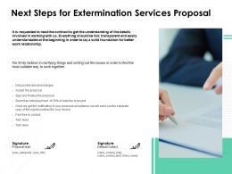 Next Steps For Extermination Services Proposal Ppt Outline Example