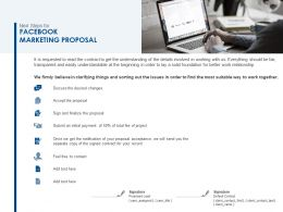 Next Steps For Facebook Marketing Proposal Ppt Powerpoint Slides