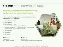 Next Steps For Freelancer Writing Job Proposal Ppt Powerpoint Presentation Slide