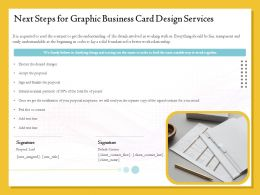 Next Steps For Graphic Business Card Design Services Ppt Topics