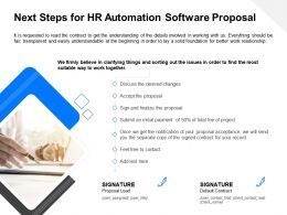 Next Steps For HR Automation Software Proposal Ppt File Design