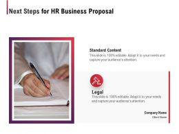Next Steps For HR Business Proposal Ppt Powerpoint Presentation Icon Infographics