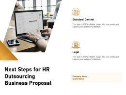 Next Steps For HR Outsourcing Business Proposal Ppt Powerpoint Presentation Summary