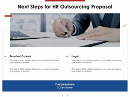Next Steps For HR Outsourcing Proposal Ppt Powerpoint Presentation Summary