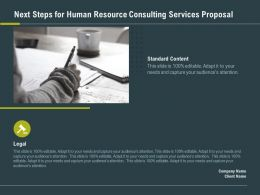 Next Steps For Human Resource Consulting Services Proposal Ppt Slide Layout