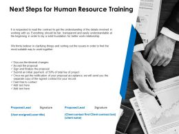 Next Steps For Human Resource Training C1078 Ppt Powerpoint Presentation Example