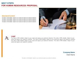 Next Steps For Human Resources Proposal Ppt Powerpoint Presentation Shapes