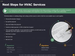 Next Steps For HVAC Services Relationships Ppt Powerpoint Gallery Example