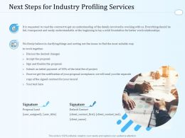 Next Steps For Industry Profiling Services Ppt Powerpoint Presentation Portfolio Good