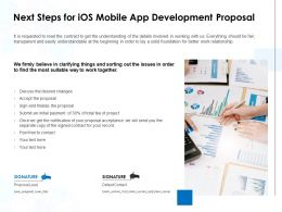 Next Steps For IOS Mobile App Development Proposal Ppt Ideas Icon