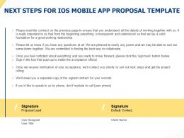 Next Steps For IOS Mobile App Proposal Template Ppt Powerpoint Presentation Information