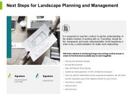 Next Steps For Landscape Planning And Management Powerpoint Presentation