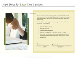 Next Steps For Lawn Care Services Ppt Powerpoint Presentation Download