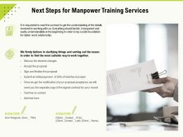 Next Steps For Manpower Training Services Ppt Powerpoint Presentation Outline Example Topics