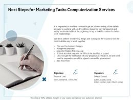 Next Steps For Marketing Tasks Computerization Services Work Together Ppt Powerpoint Designs Download