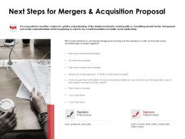Next Steps For Mergers And Acquisition Proposal Opportunity Ppt Slides