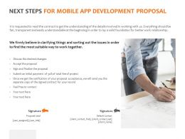 Next Steps For Mobile App Development Proposal C1073 Ppt Powerpoint Presentation Skills